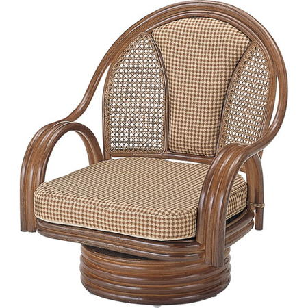 籐回転座椅子 ミドル s532b