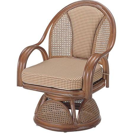 籐回転座椅子 ハイ s533b
