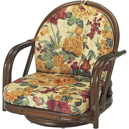 籐回転座椅子 ロー s541b