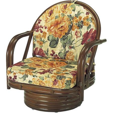 籐回転座椅子 ミドル s542b