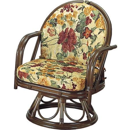 籐回転座椅子 ミドル s543b