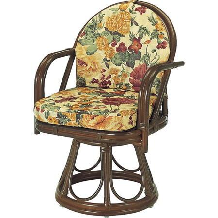 籐回転座椅子 ハイ s544b