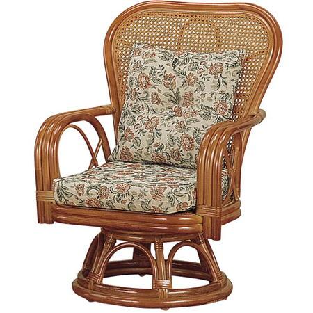 籐回転座椅子 ミドル s563
