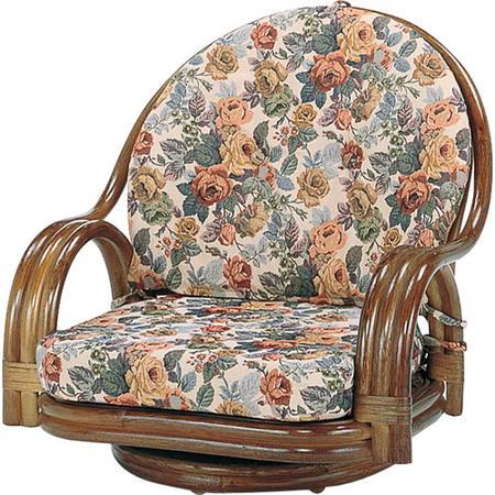 籐回転座椅子 ロー s581b