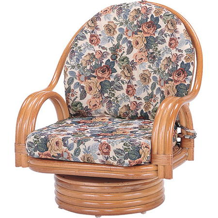 籐回転座椅子 ミドル s582