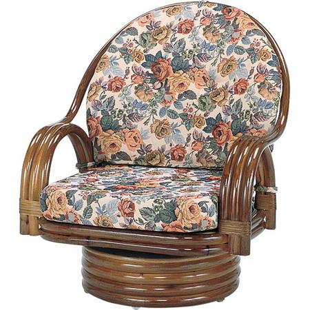籐回転座椅子 ミドル s582b
