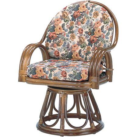 籐回転座椅子 ハイ s584b