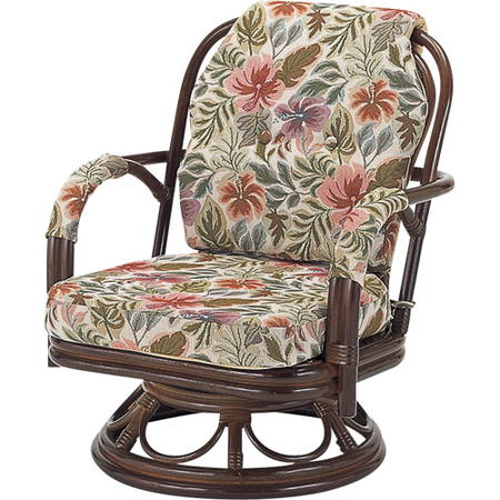 籐回転座椅子 ミドル s652b