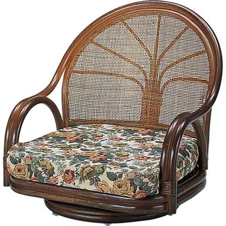 籐回転座椅子 ロー s3003b