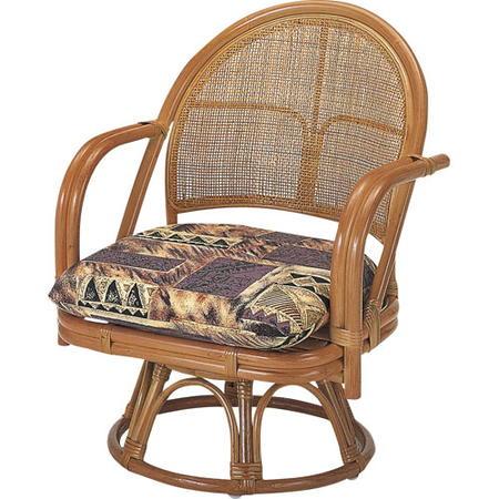 籐回転座椅子 ミドル s3501