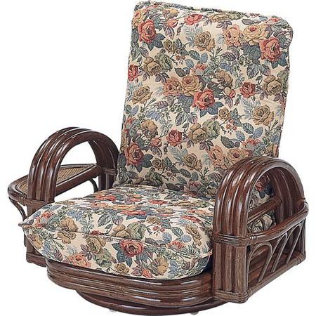 籐リクライニング回転座椅子 ロー s697