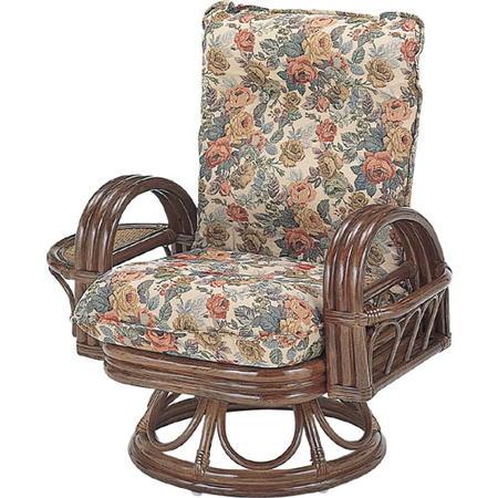 籐リクライニング回転座椅子 ハイ s699