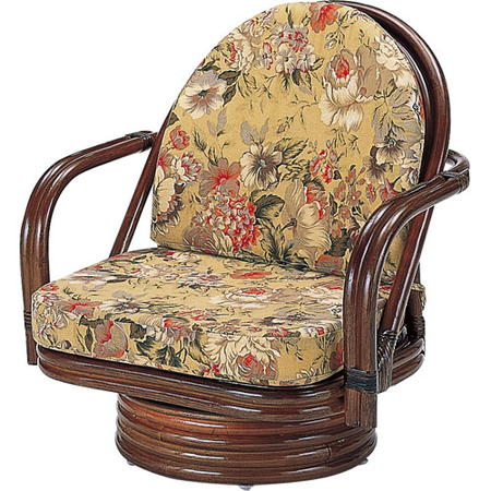 籐回転座椅子 ミドル s776b