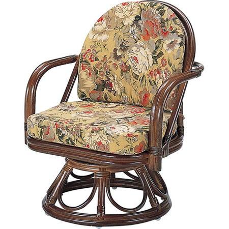 籐回転座椅子 ミドル s777b