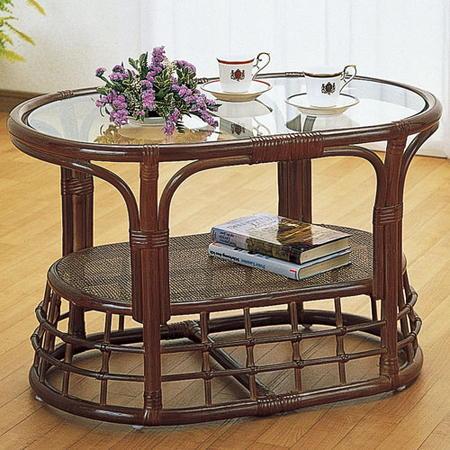 籐リビングテーブル 幅75cm t450b