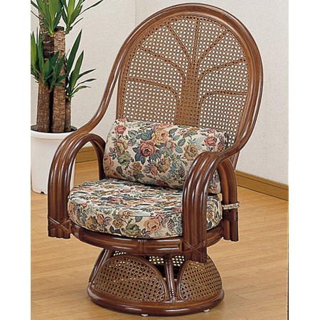 籐回転座椅子 ミドル tk666b
