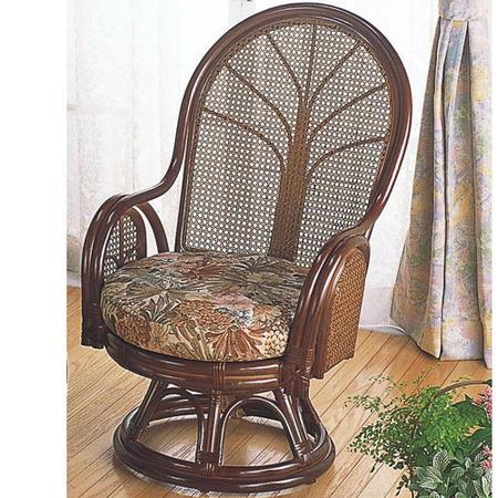 籐回転座椅子 ミドル tk901