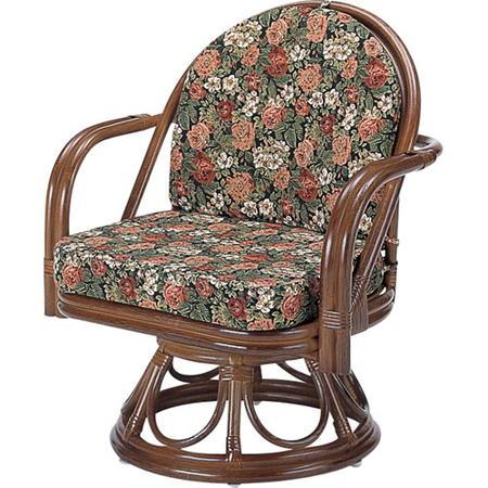 籐回転座椅子 ミドル y1000b