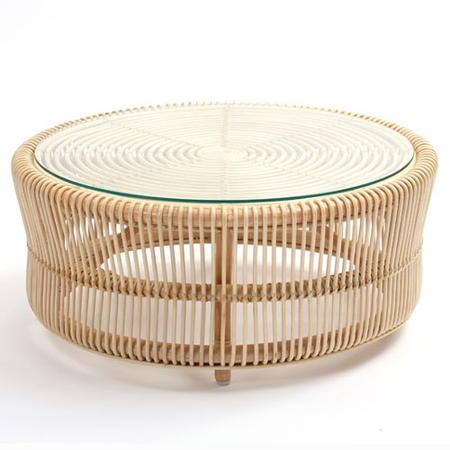 籐円形リビングテーブル