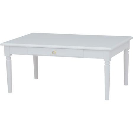 クリスタル調取っ手のリビングテーブル 幅90cm