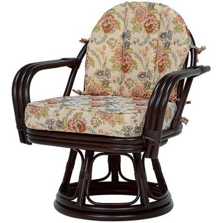 籐回転座椅子 ワイドサイズ ミドルハイ