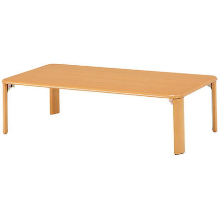 折りたたみリビングテーブル 幅105cm ナチュラル