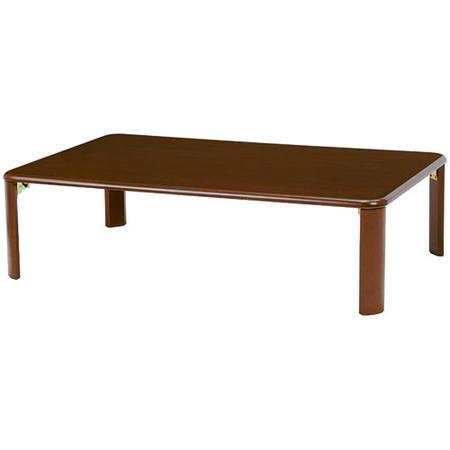 折りたたみリビングテーブル 幅120cm ダークブラウン