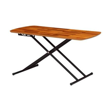 高さ調節昇降式リフティングテーブル 幅100cm アカシア