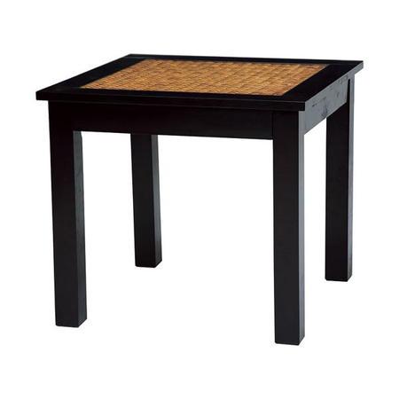 籐デザインダイニングテーブル 幅80cm
