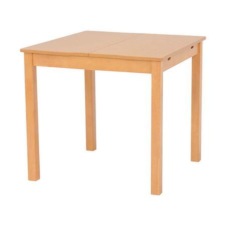伸長式エクステンションダイニングテーブル 幅90/120cm ナチュラル