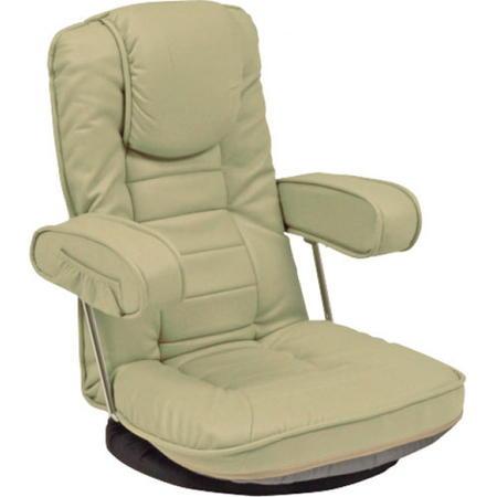 リクライニング 回転 座イス リクライニング回転座椅子 LZ-1081LGY ベージュ LZ-1081LGY 座椅子座イス ザイス 座いす 回転式座椅子 パーソナルチェア チェアー 椅子 イス いす リラックスチェア 肘掛け 肘掛 こたつチェア 床生活 lz-1081lgy