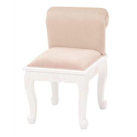 背付きスツール ダイニングチェア アンティーク風 アンティーク調猫脚背付きスツール ヴィオレッタ アンティークホワイト RH-1774AW-NBE カジュアル カジュアルチェア チェア いす 椅子 おしゃれ かわいい 姫系 姫家具 リビングチェア rh-1774aw