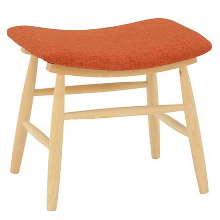 木製スツール 布張り 1人掛け スツール オレンジ 2脚組 VH-7947OR 腰掛け オットマン 玄関 イス 椅子 チェア 北欧 ファブリック かわいい 背もたれなし 家具 雑貨 お洒落 ギフト プレゼント vh-7947or