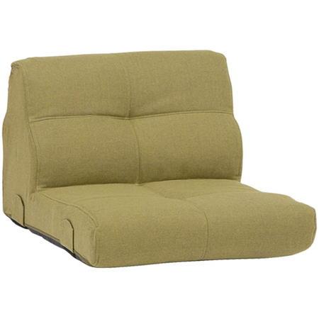 低い 1.5人掛けソファ 布 座椅子 1.5人掛けローソファ(組合せ用) 幅75cm 布張 トリニティ グリーン トリニティGR-1.5P フロアソファ フロアソファー ワイド座椅子 座いす布張りソファ 布ソファ 布ソファー 1人暮らし ワンルーム trnty-gr-15p