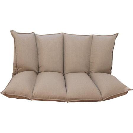 2人掛けリクライニングソファ 幅140cm 布張 ふわもこ ベージュ
