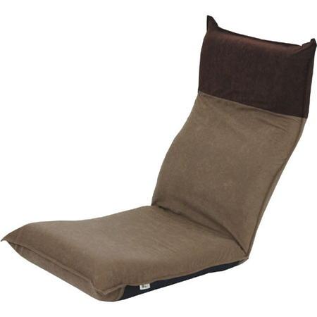 ヘッドリクライニング座椅子 アッシュブラウン×ダークブラウン