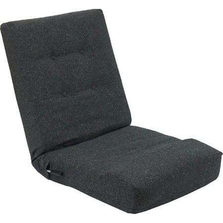 レバー式リクライニング座椅子 ブラック