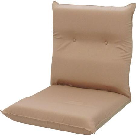 低反発ワイドハイバックリクライニング座椅子 ピケ ベージュ