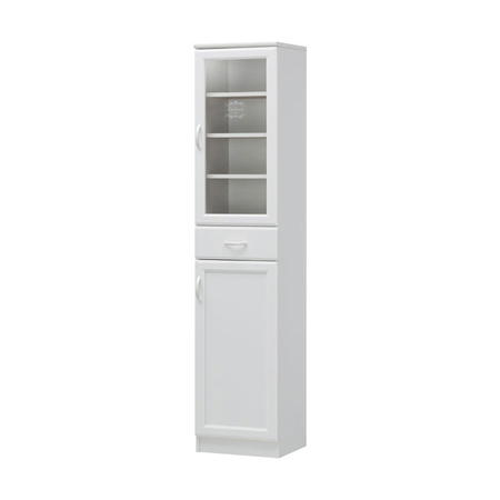 スリム食器棚 ガラス戸1段 セシルナ 幅40cm高さ181cm