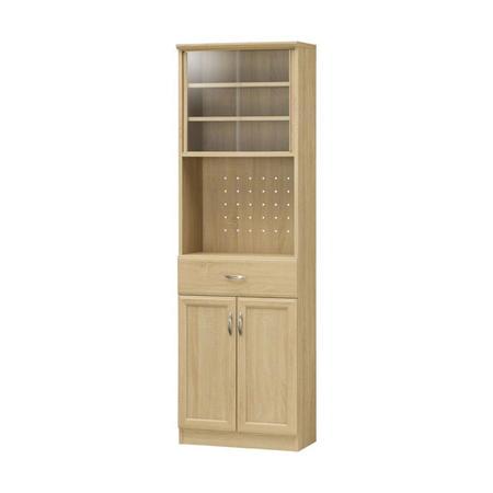 薄型食器棚 ホノボーラ 幅57cm高さ180cm