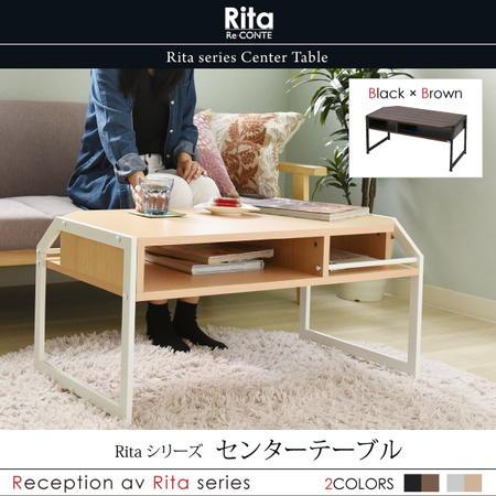 リビングテーブル Rita ローテーブル テーブル ロー 北欧風センターテーブル 北欧 テイスト おしゃれ 木製 スチール ホワイト ブラック