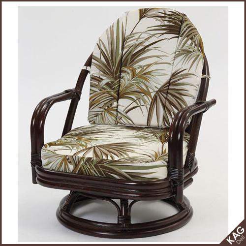 籐回転座椅子 ミドル C711