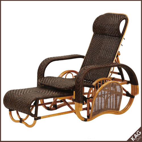籐三つ折りリクライニング寝椅子 オンリーワンハンドメイド