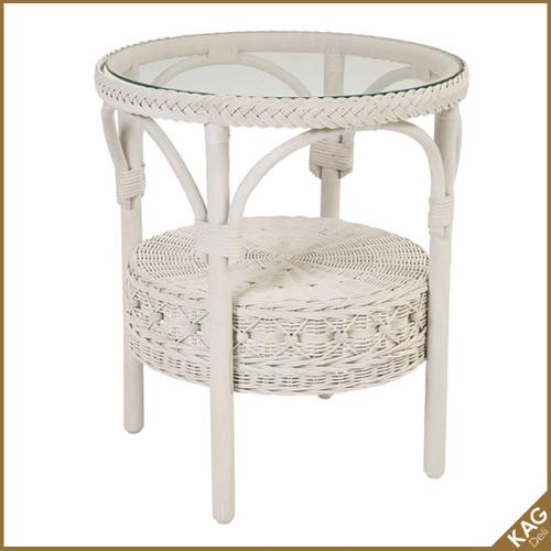 籐丸テーブル 幅52cm フィオーレ