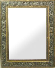 ゴールド 金 金箔 仕立ての 鏡 ミラー 壁掛け鏡 壁掛けミラー ウオールミラー:古代ローマの彫刻(金箔ワイド)Lサイズ(フレームミラー 壁掛け 壁付け 姿見 姿見鏡 壁 おしゃれ エレガント 化粧鏡 アンティーク 玄関 玄関鏡 洗面所 トイレ 寝室 )
