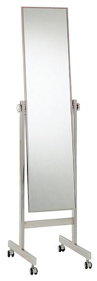 鏡 ミラー 業務用(プロ仕様) キャスター付き 姿見 姿見鏡:1a29t2(片面鏡)(ファッションミラー スタンドミラー キャスター スタンド 店舗用 全身 ドレッサー 全身鏡 おしゃれ エレガント 店舗 ショップ 移動 収納 )
