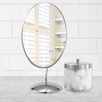 鏡の専門店 業務用 プロ仕様 鏡 ミラー 卓上鏡 卓上ミラー スタンドミラー ミラースタンド スタンド メーキャップミラー 化粧鏡 コスメミラー 卓上鏡 卓上ミラー :3a52t(片面鏡)