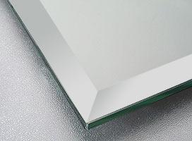 鏡・ミラー・板鏡(配送+施工)(長方形・正方形)(板厚5ミリ)(15mm幅面取り加工)×4枚