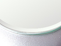 国産 クリアーミラー (通常の鏡)(5ミリ厚)(天丸形)(15ミリ面取り加工) 鏡 ミラー 板鏡 カット サイズカット 特注:610mmx305mm(普通鏡 通常鏡 板鏡 鏡板 ガラス鏡 鏡ガラス 洗面所 トイレ 洗面 玄関 かがみ 送料込 鏡販売 洗面鏡 トイレ鏡)
