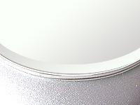 国産 スーパークリアーミラー (高透過 超透明鏡)(防湿 防錆加工)(5ミリ厚)(円形)(15ミリ面取り加工) 鏡 ミラー 板鏡 カット サイズカット 特注:914mmx406mm(鏡板 ガラス鏡 鏡ガラス 洗面所 トイレ 洗面 洗面鏡 トイレ鏡 防錆 防湿 浴室)